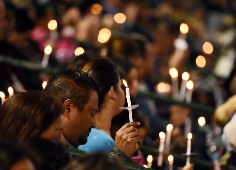 A candlelight vigil for San Bernardino shooting
