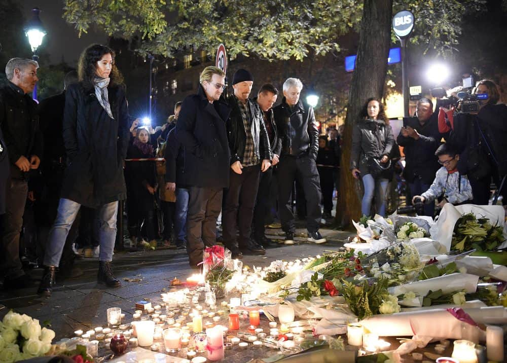 U2 in Paris after attacks