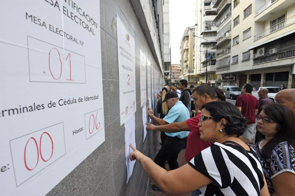 Venezuela elections, voter lists