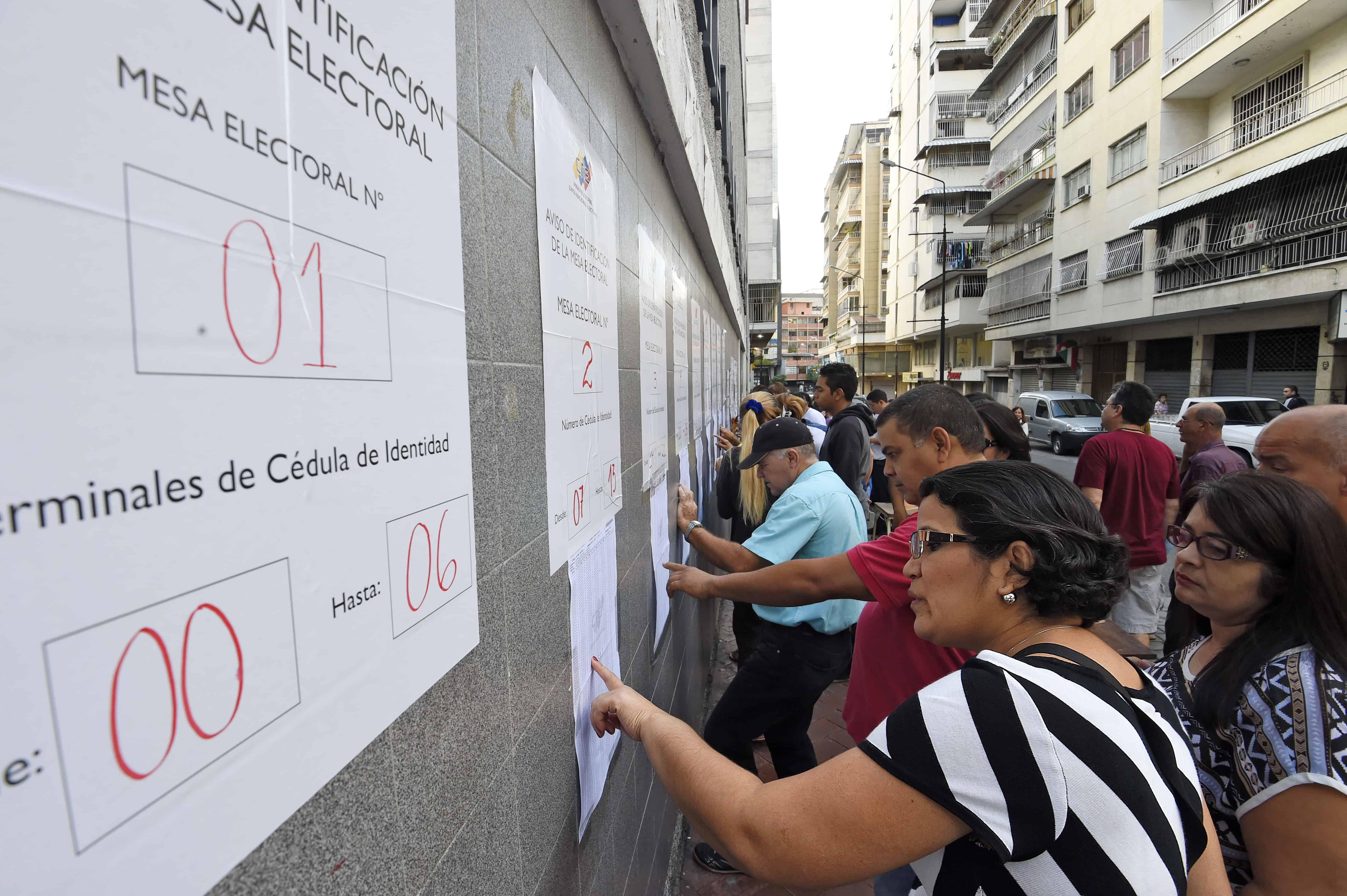 Venezuela elections, voter lists