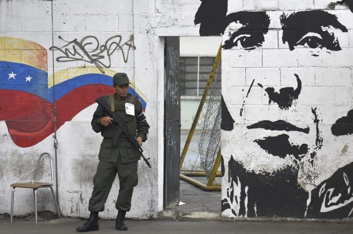 Venezuela elections, soldier