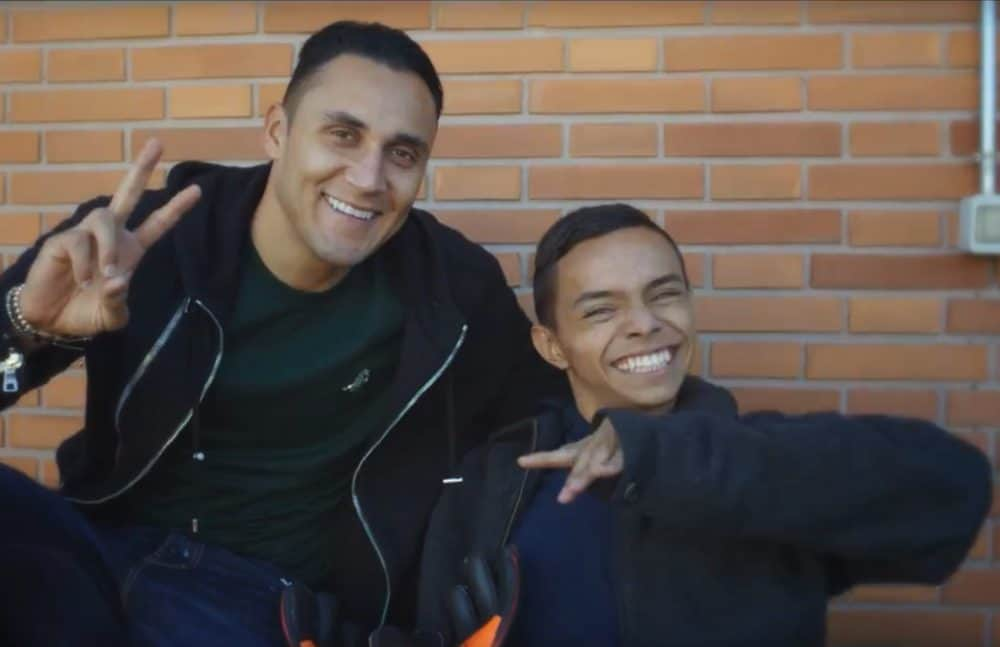 Keylor Navas and Billy Orozco