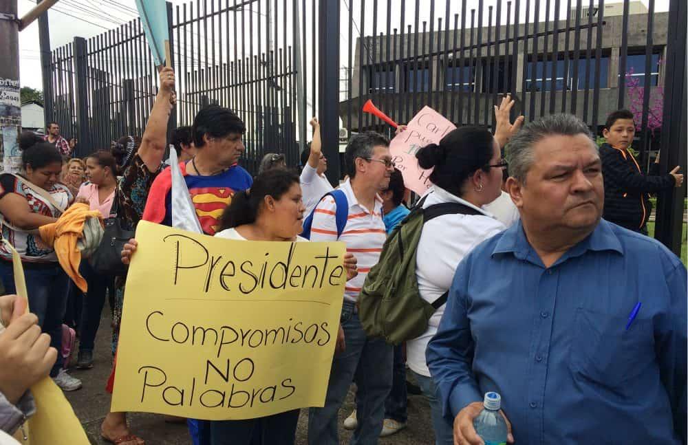 Demonstration at Casa Presidencial, Dec. 11 2015.