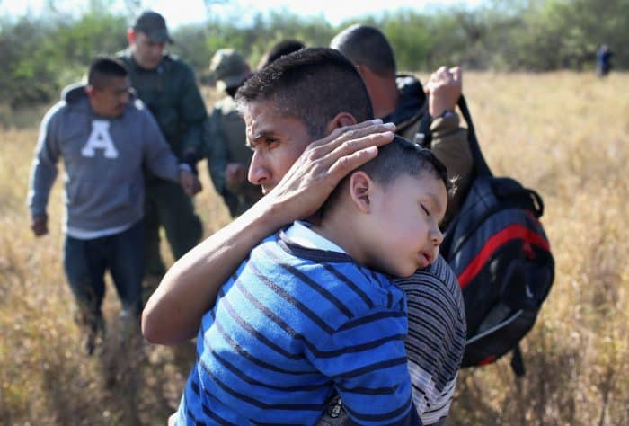 A 3-year-old; child migrants at US border