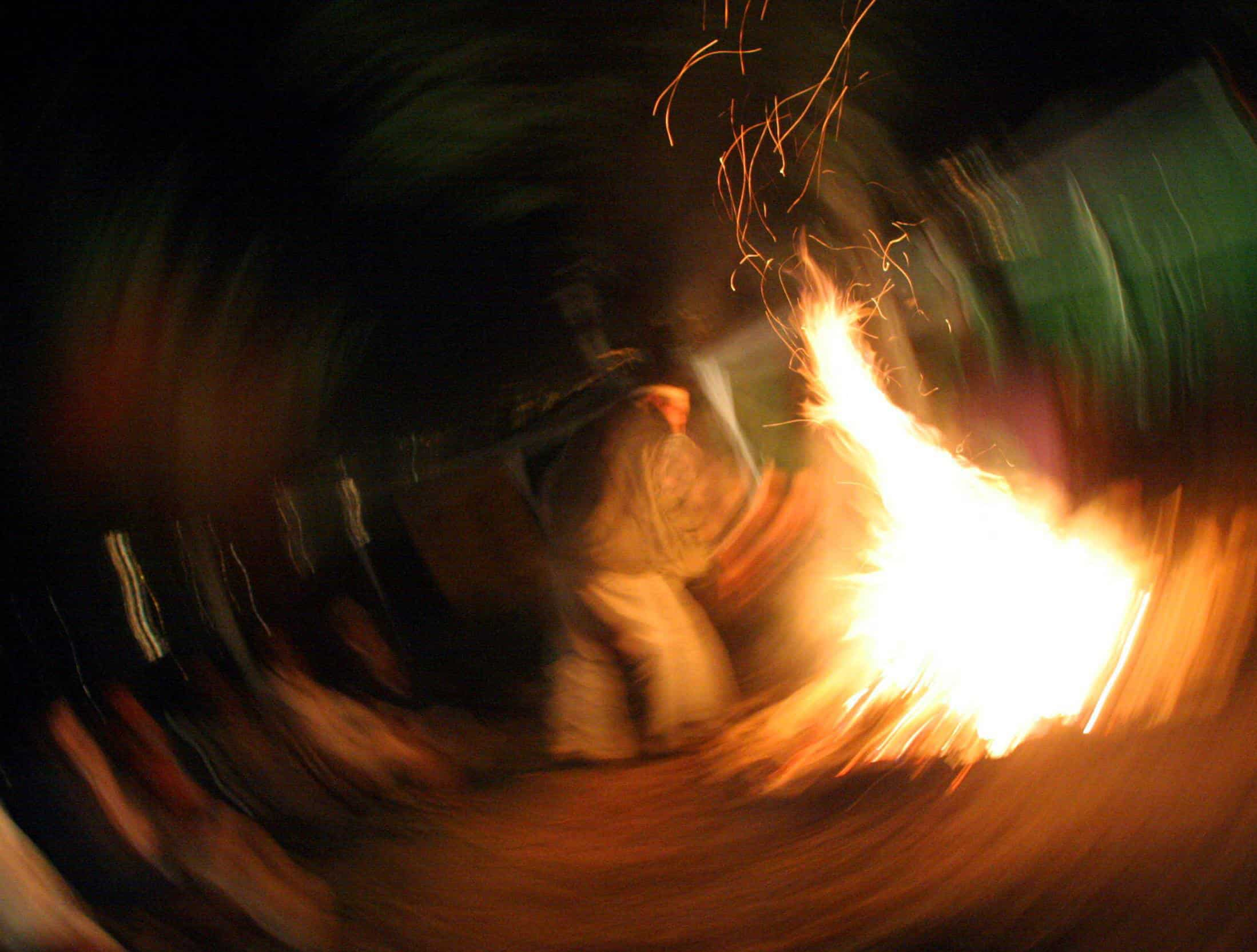 Ayahuasca ceremony in Ecuador.