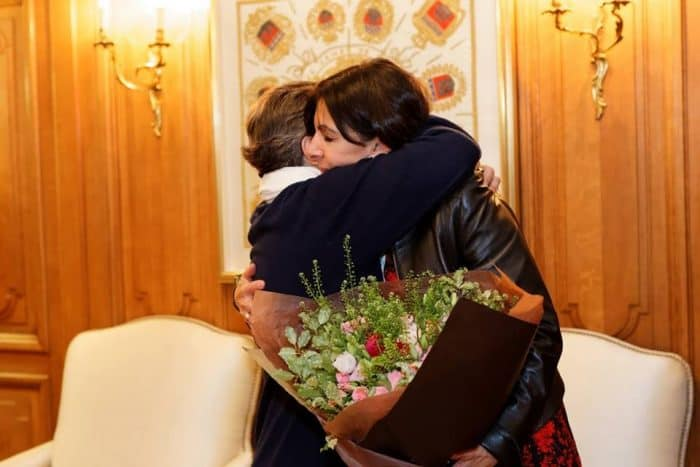 Anne Hidalgo and Christiana Figueres