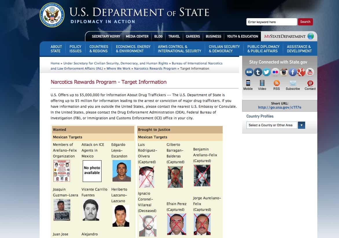drug trafficking; drug cartels