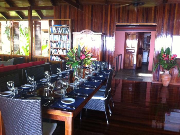 Dining room at La Paloma.
