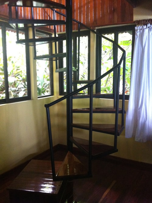 Spiral stairs.