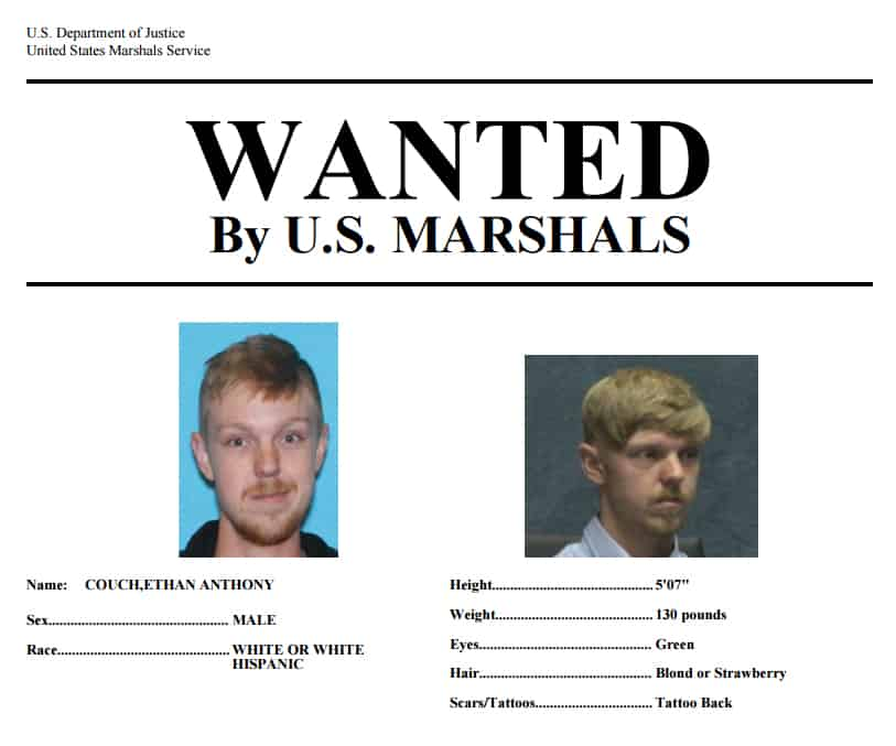 Affluenza teen Ethan Couch wanted poster