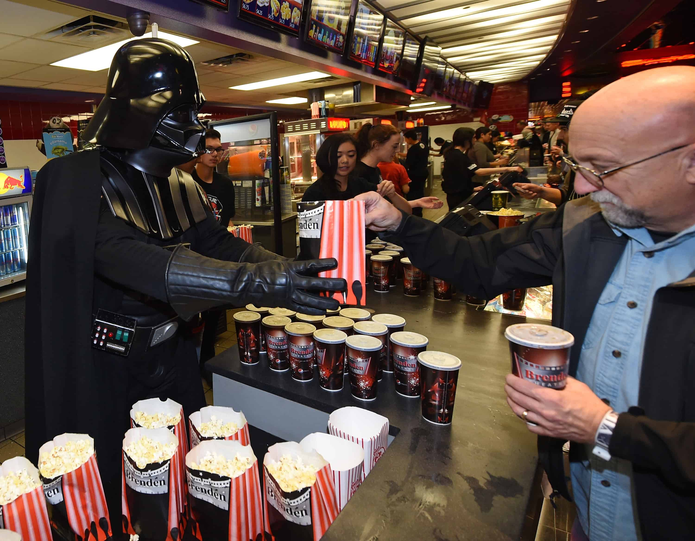 Star Wars: The Force Awakens opening night.