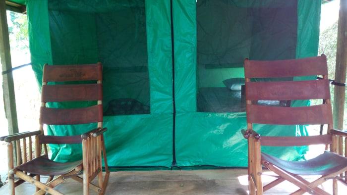 Tent platform.