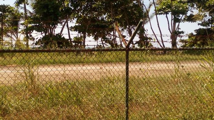 The airstrip at Carate.