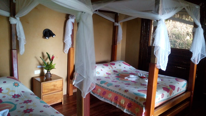 The beds in our bungalow.