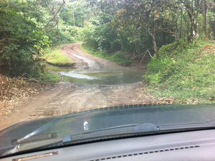 A stream crossing.