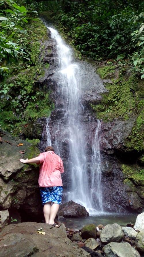 En route to big waterfall.