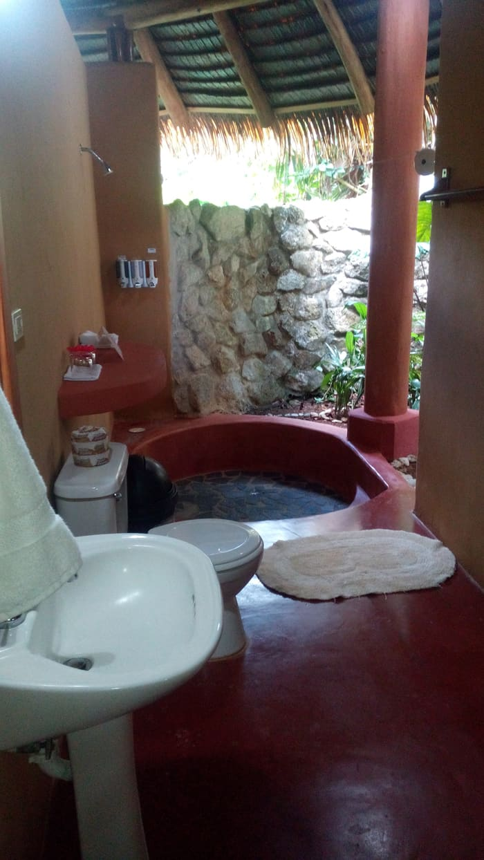 The bathroom in our bungalow.