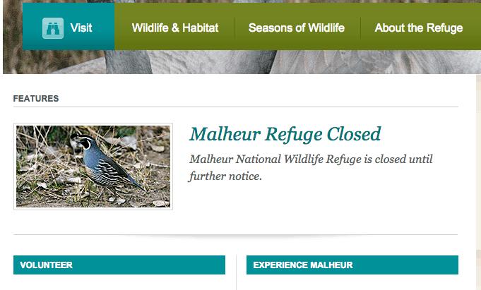 Malheur National Wildlife Refuge website
