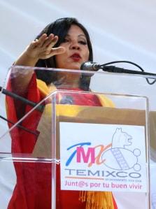 Mayor Gisela Mota speaks Jan. 1.