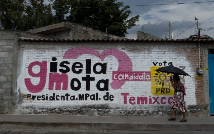 Mexico Mayor Gisela Mota publicity