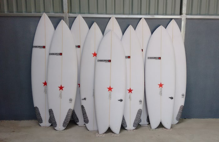 The Cheboards logo is a red star.
