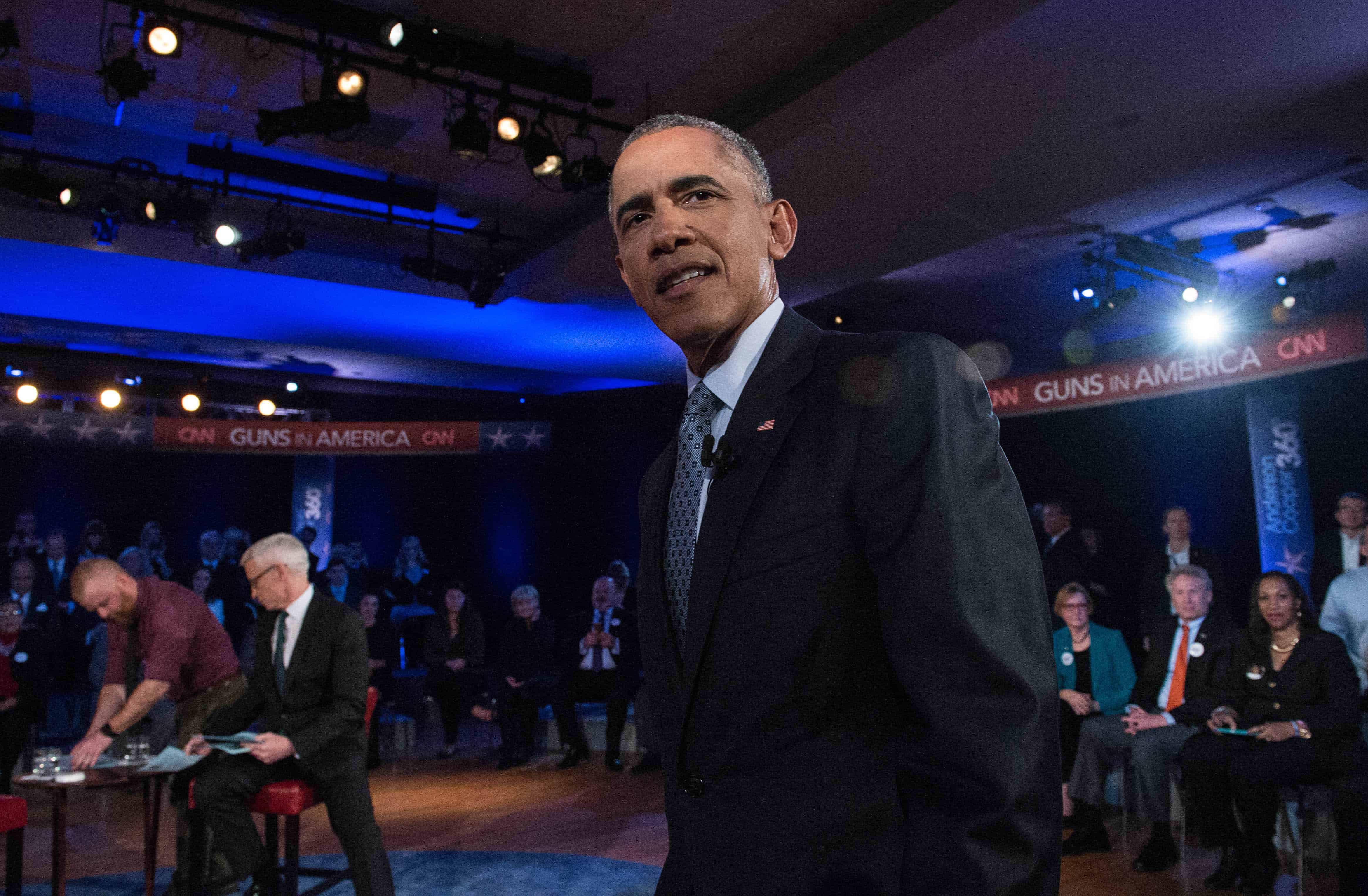 US President Barack Obama on gun control