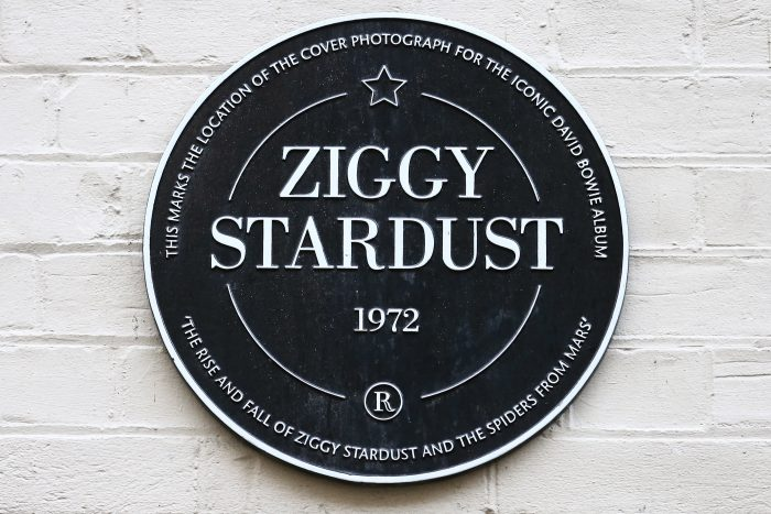 Ziggy Stardust plaque; David Bowie