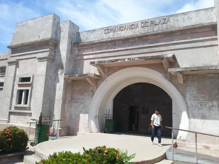 Comandancia de Plaza, the old jail and future museum.