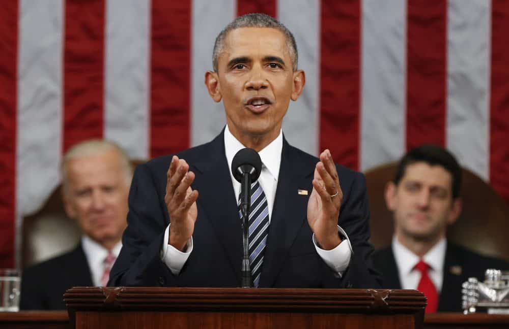 U.S. President Barack Obama delivers his State of the Union address