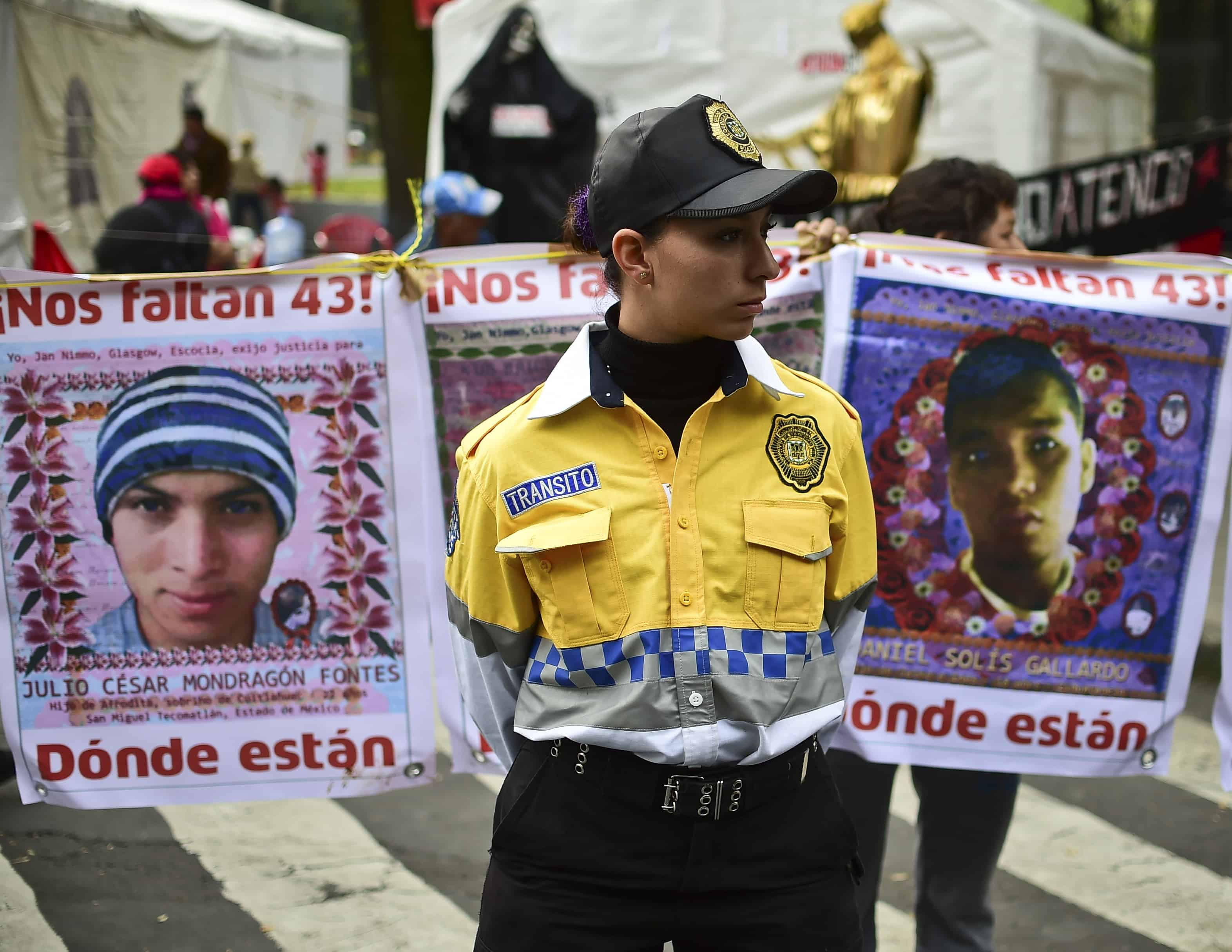 Portraits of missing students in Mexico