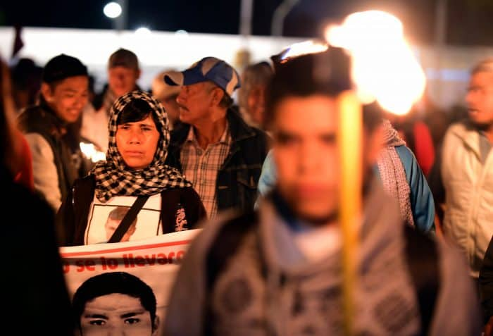 Protest for missing students in Mexico