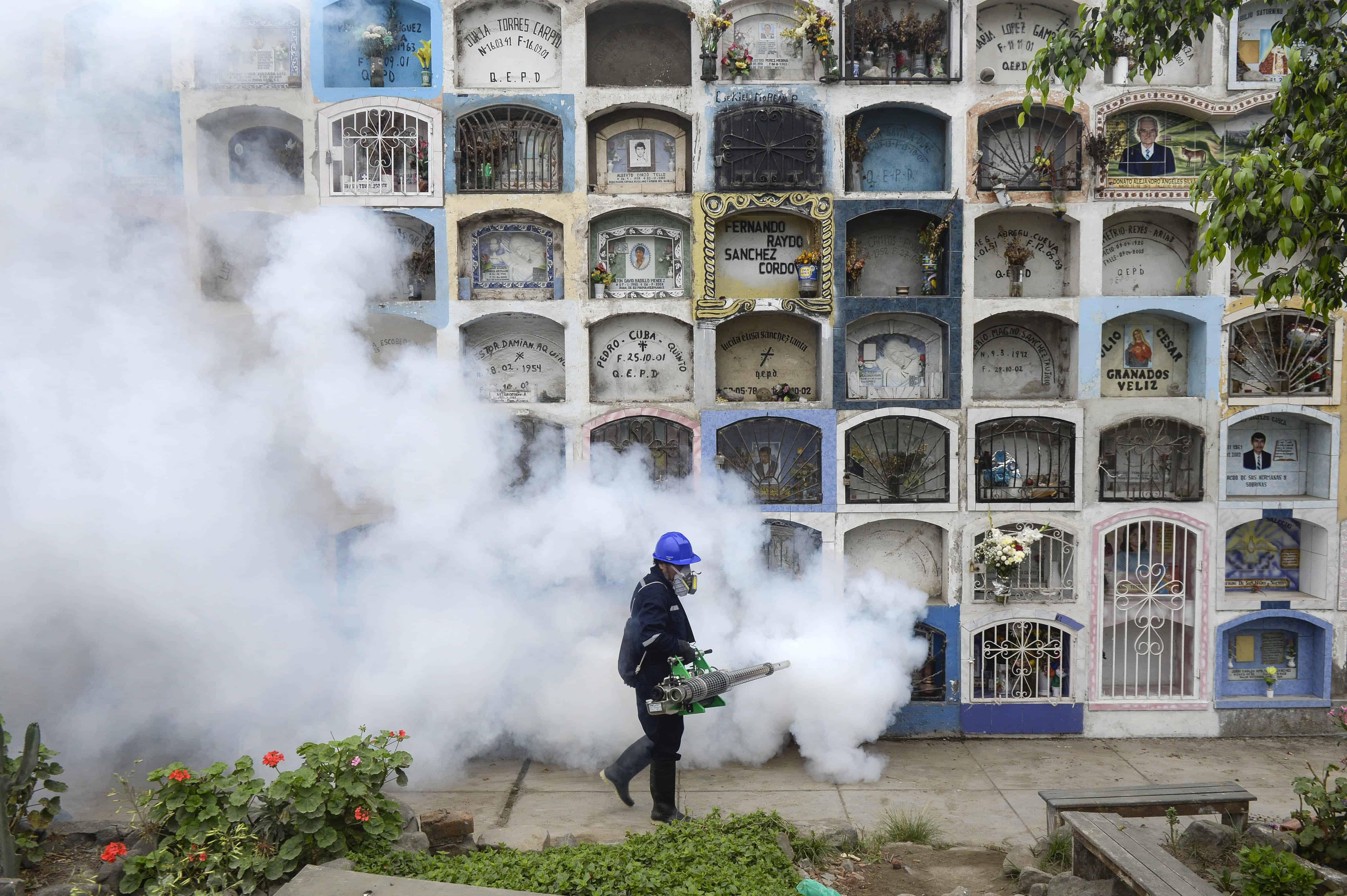 Fumigating in Peru for the zika virus