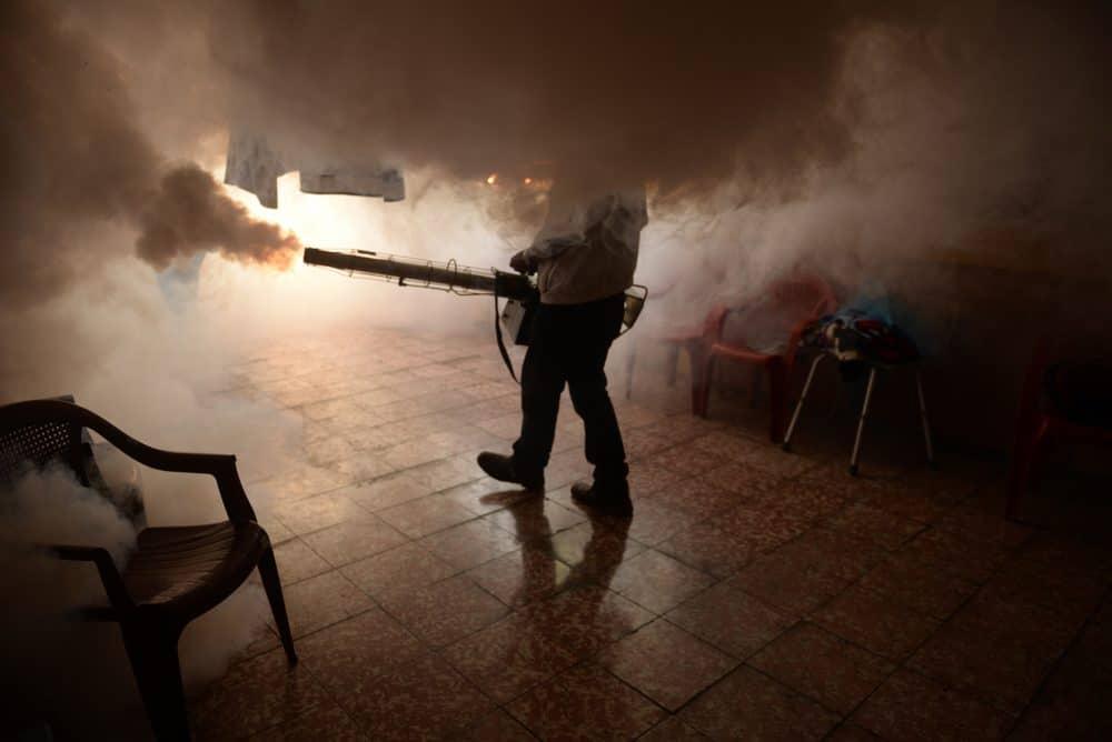 fumigating against Zika virus