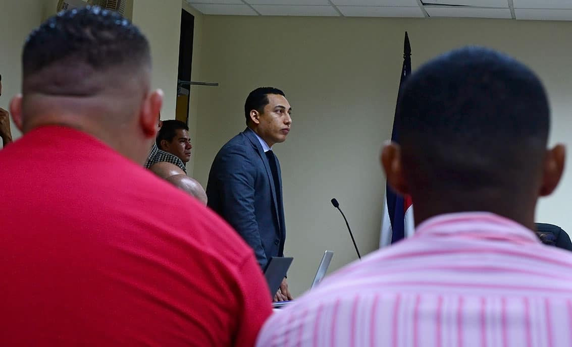 Defense attorney Luis Ling at Jairo Mora murder trial