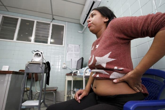 A pregnant woman, Angelica Prato, infected by the Zika virus is attended at the Erasmo Meoz University Hospital in Cucuta, Colombia.