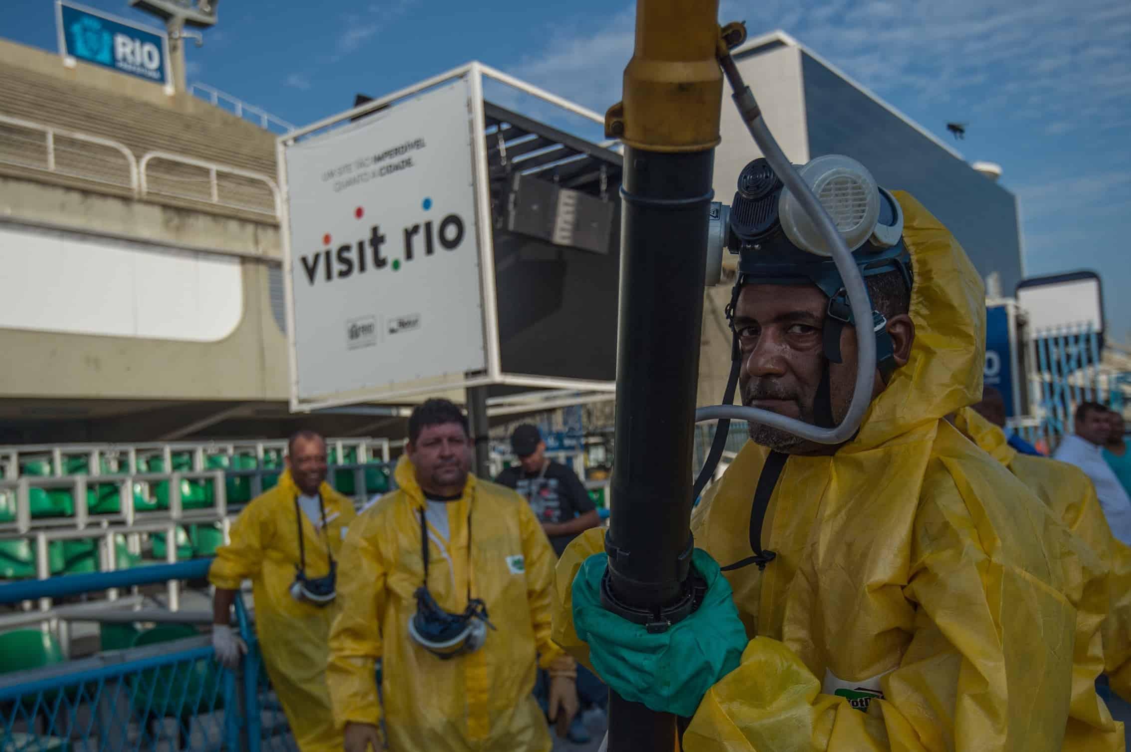 spraying against Zika virus in Brazil