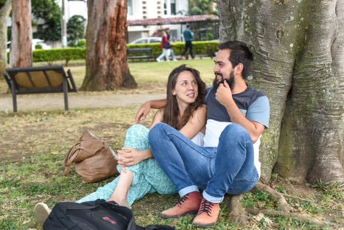 A couple enjoys the afternoon along with the park's nature. Alberto Font/The Tico Times