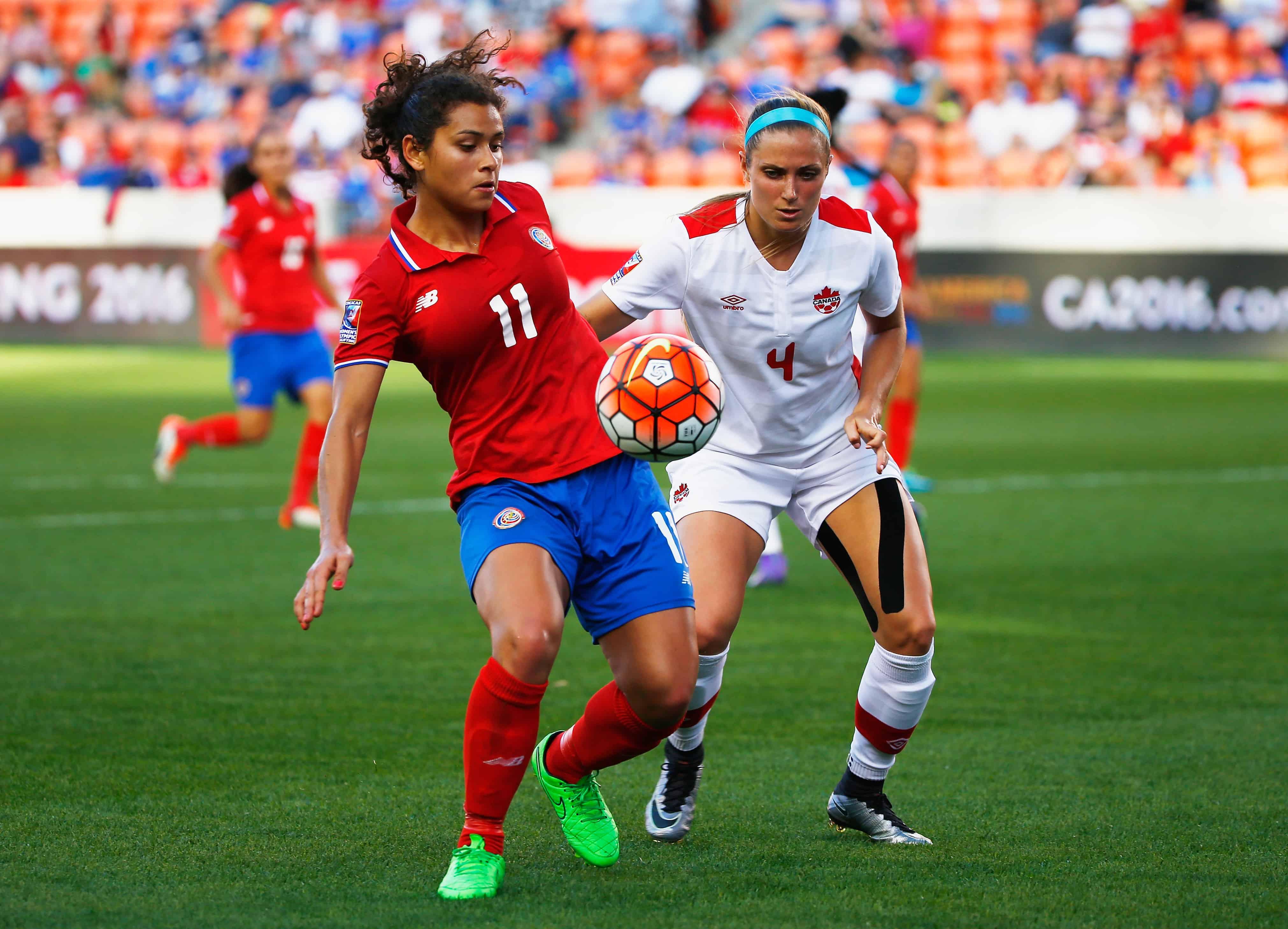 costa rica women's football: Sheilina Zadorsky and Raquel Rodriguez