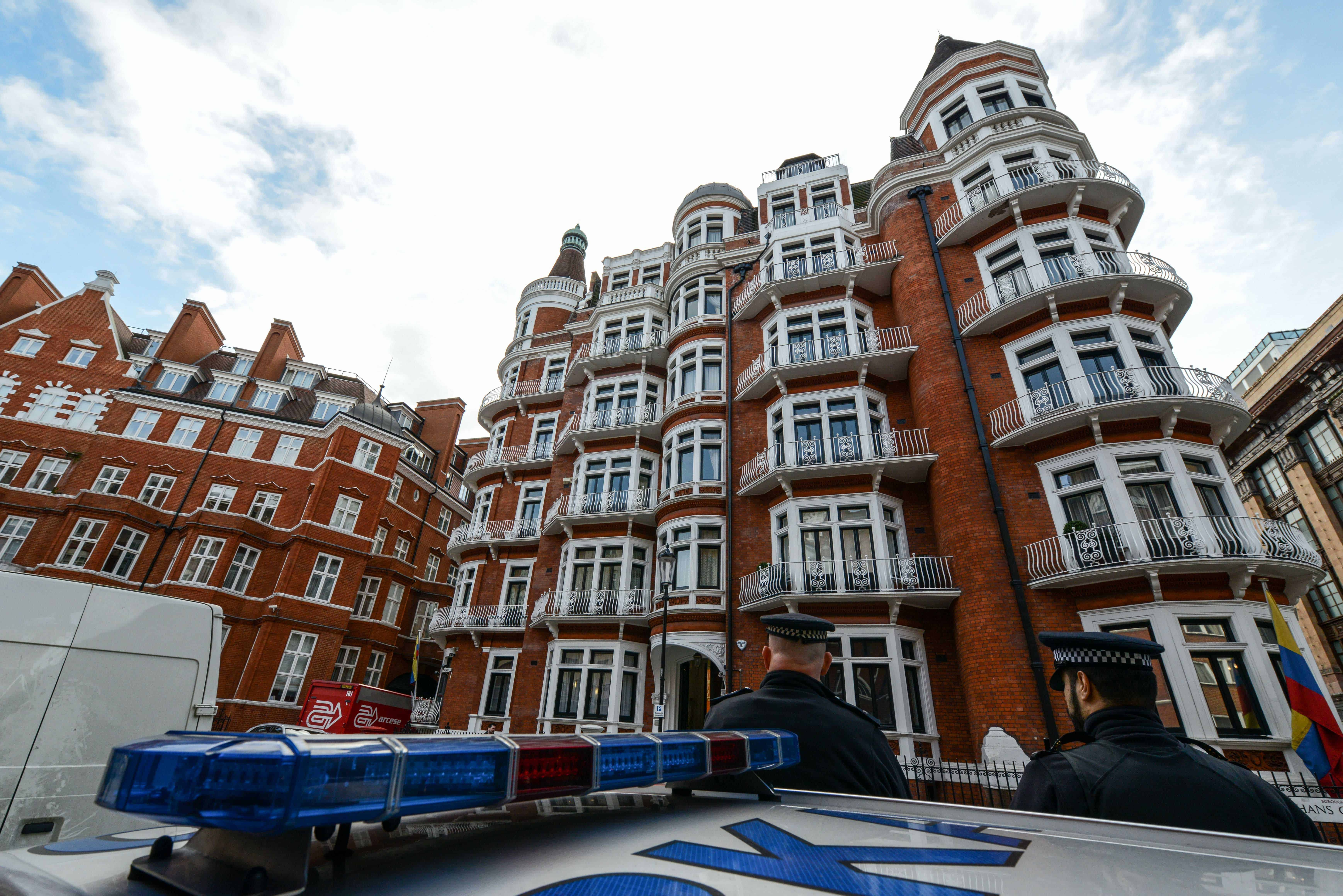 Ecuador's Embassy in London, where WikiLeaks founder Julian Assange is holed up.