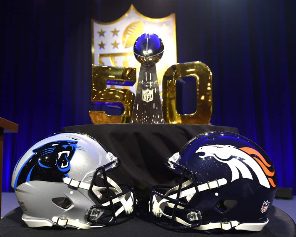Super Bowl 50 with Carolina Panthers vs. Denver Broncos