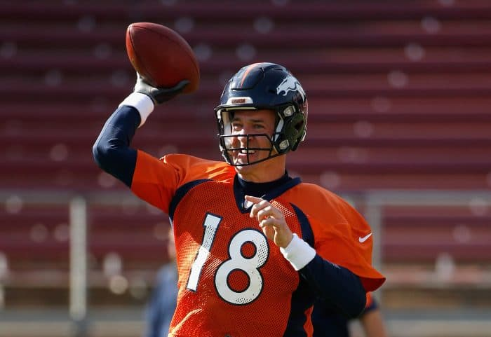 Peyton Manning of the Denver Broncos | Super Bowl 50