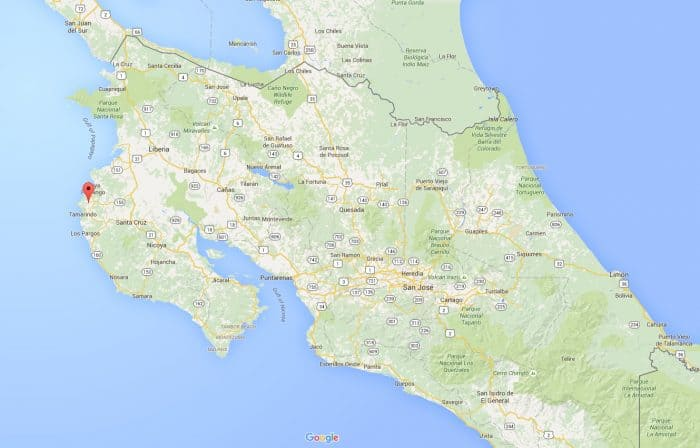 Costa Rica killing: Matapalo map