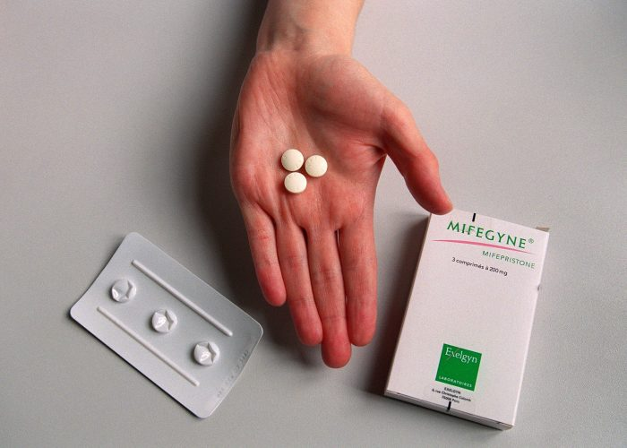The abortion pill RU-486 pill, or Mifepristone.
