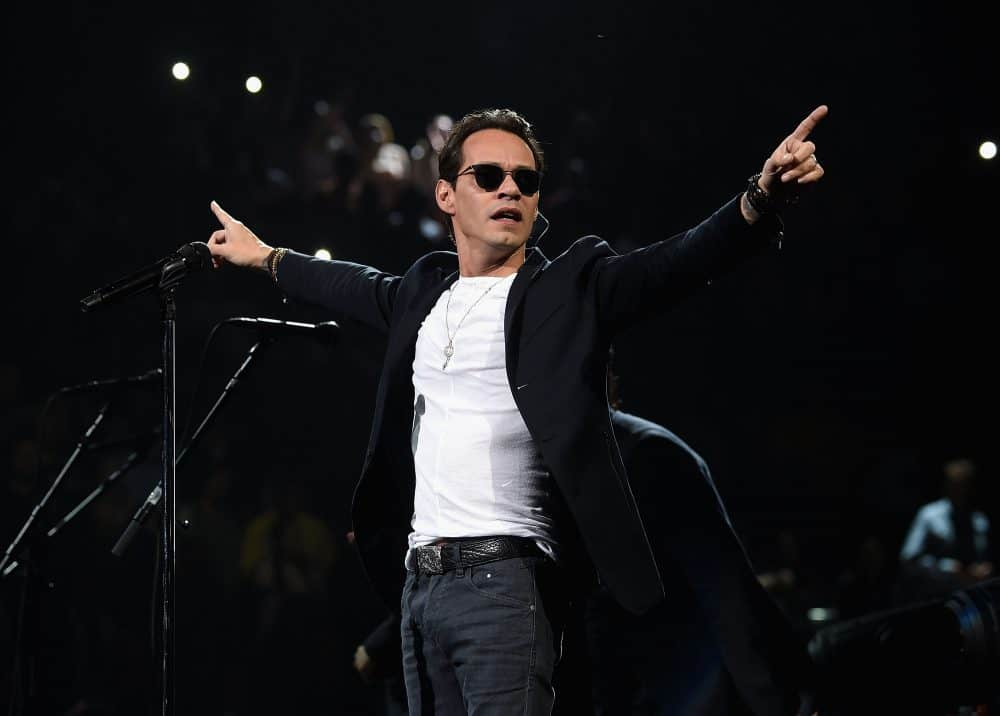 Marc Anthony warms up for Costa Rica on Feb. 6 in New York City.