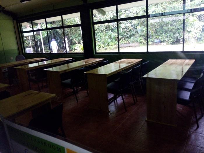 Classroom at La Selva.