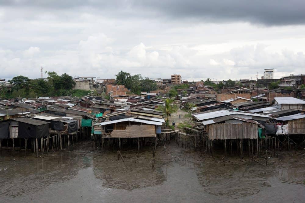 Wooden stilt houses in Buenaventura, Colombia