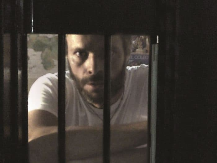 Venezuela opposition leader Leopoldo López in his jail cell.