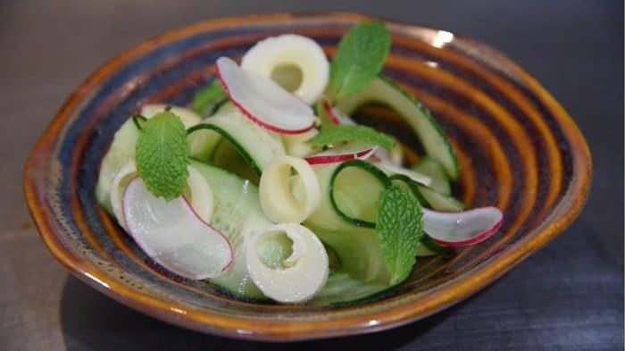 Cucumber salad at Al Mercat
