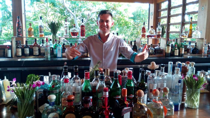Cristian Bolaños, resident mixologist, is prepared to serve you any drink you can name.