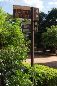 Nueva Germania misspelled street sign
